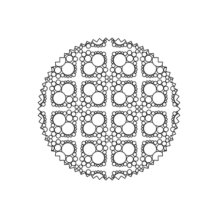 line circle with pattern graphic seamless background design vector illustration