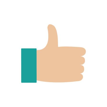 Thumbs up design.