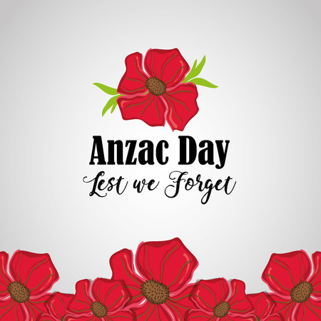anzac holiday to military remembrance war vector illustration