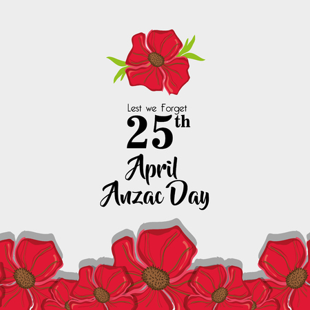 Anzac day memorial to militar war vector illustration Illustration