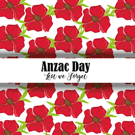 remembrance war with anzac day memorial Illustration