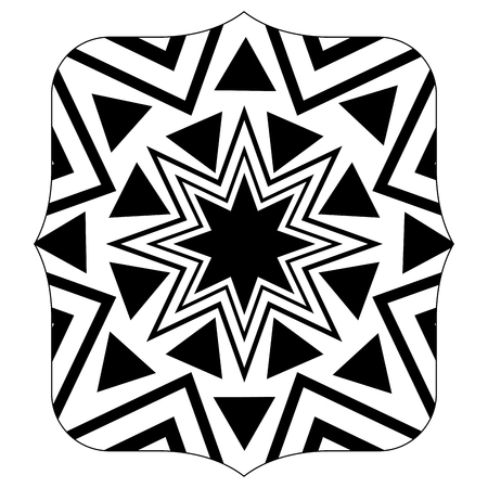 quadrate with pattern geometric shapes background design Illustration