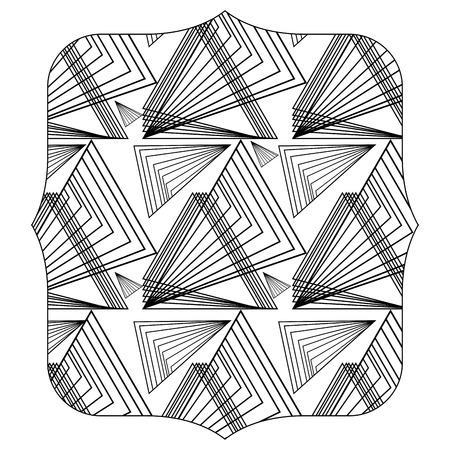 quadrate with pattern graphic shapes background design