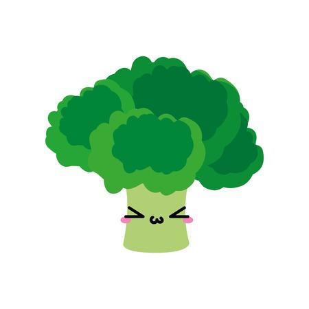 야채 건강과 유기농 식품 테마의 브로콜리 격리 된 디자인 벡터 일러스트 레이 션