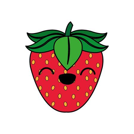 Isolated strawberry design illustration on white background.