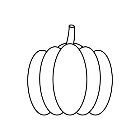 Isolated pumpkin design
