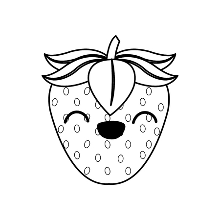 Isolated strawberry design Illustration