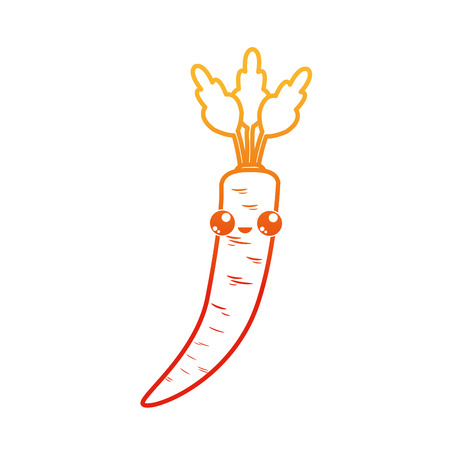 Carrot of vegetable healthy and organic food theme Isolated design Vector illustration Illustration