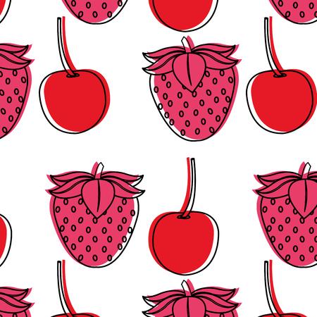 strawberry and cherrydesign Illustration