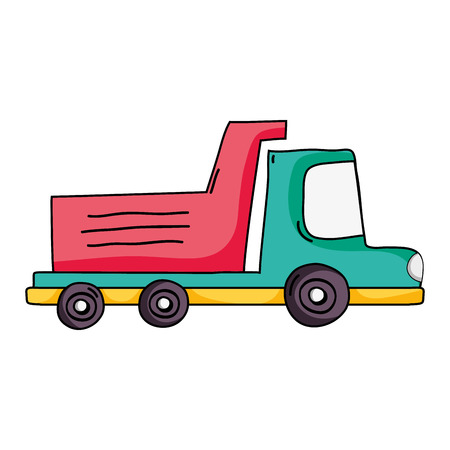 A dump truck vehicle vector illustration