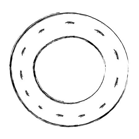 Grunge vehicle tire