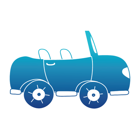 blue silhouette sport car to tranport vehicle