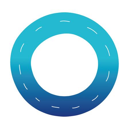 blue silhouette vehicle tire of rubber wheel design
