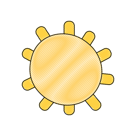 grated sun light weather with ray design vector illustration