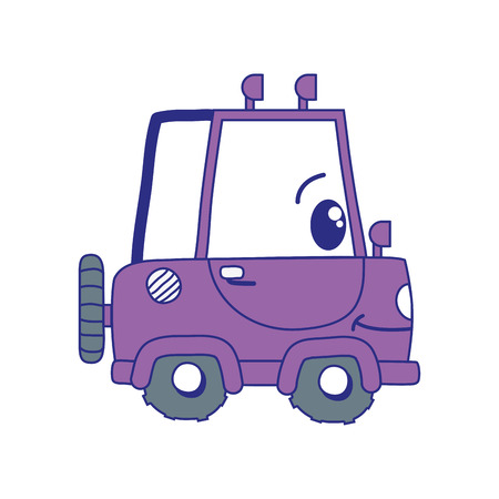 full color  happy tractor vehicle transport vector illustration