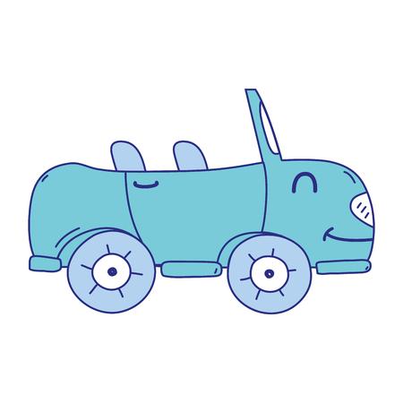 full color  smile sport car transport vector illustration Vectores