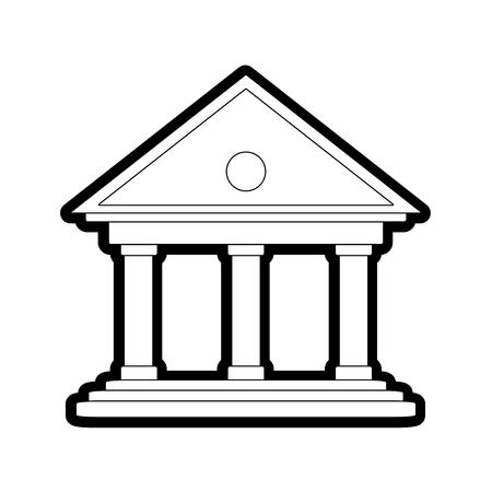 line finance bank account economy save vector illustration