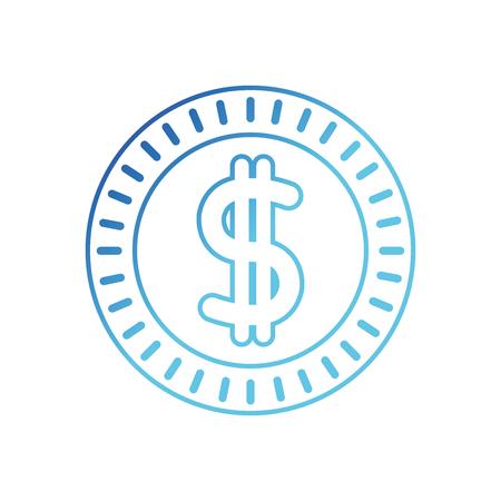 blue line metal coin cash money