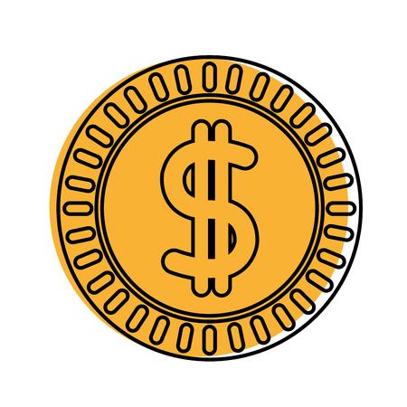 color metal coin cash money
