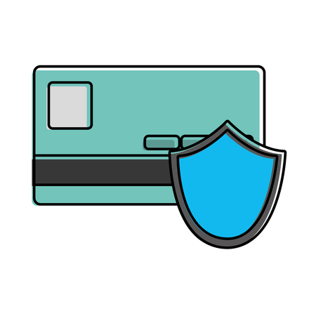 color digital credit card with shield security