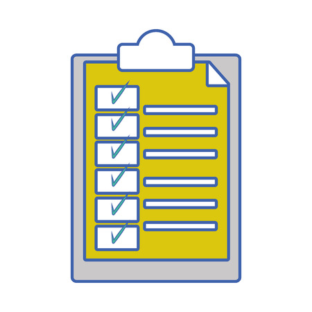 folder with document paper and check list Illustration