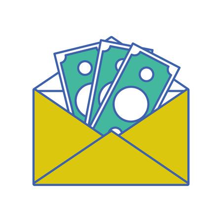 Bill cash money inside card design