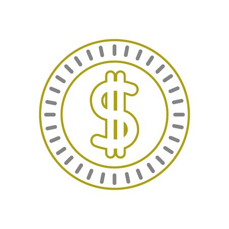 yellow line metal coin cash money