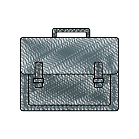 A grated briefcase for documents vector illustration