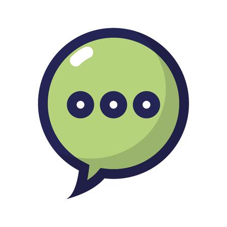 Chat bubble text message communication vector illustration Illustration