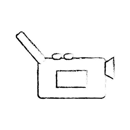 grunge digital video camera recorder technology vector illustration