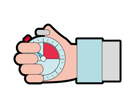 Full color hand man with chronometer time object
