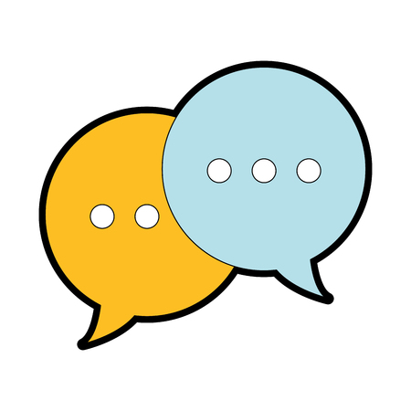 full color chat bubbles text notes messages vector illustration