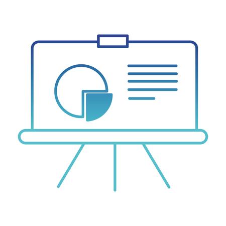 blue line business presentation with statistics graphic diagram vector illustration
