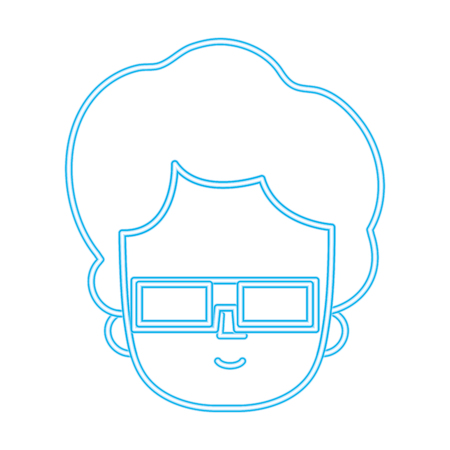 colored man with hairstyle design and 3d glasses