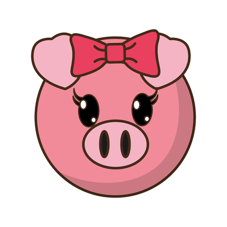 female pig head cute animal