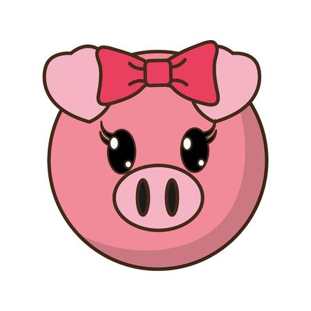 female pig head cute animal