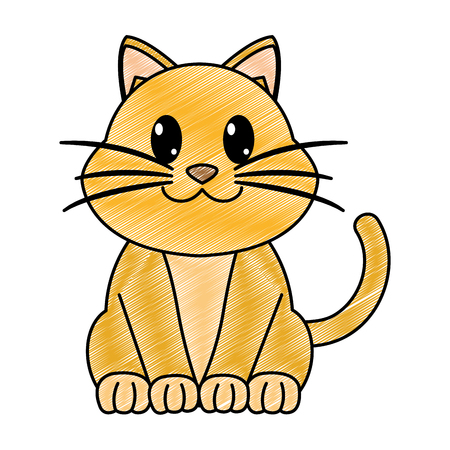 grated happy cat cute animal character
