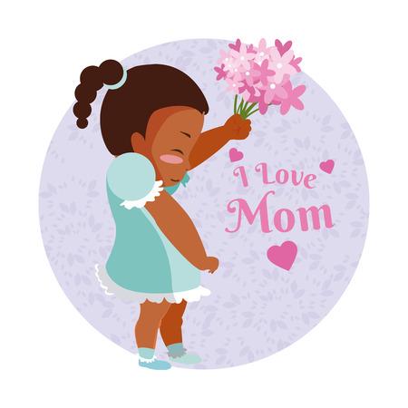 Happy mothers day cartoon icon vector illustration graphic design