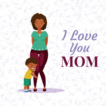 Happy mothers day cartoon icon vector illustration graphic design