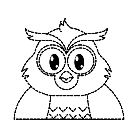 dotted shape adorable owl cute animal character Illustration