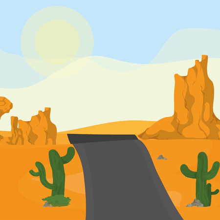 Highway on the desert icon vector illustration graphic design