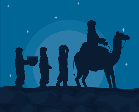 Arabs with camels vector illustration graphic design