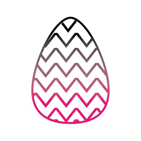 color line egg easter with figures decoration to celebration