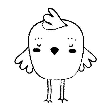 Grunge chick bird farm animal playing Stock Illustratie