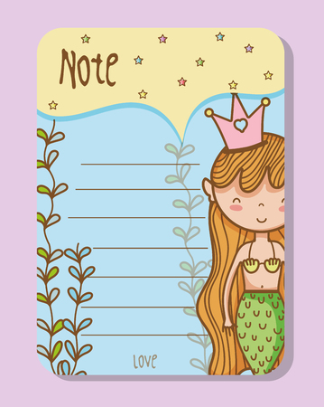 Colorful printable sheets of mermaid princess