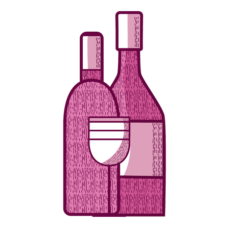 Wine bottles and cup