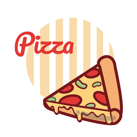 Pizza Italian fast food cartoon.