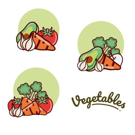 Set of vegetables