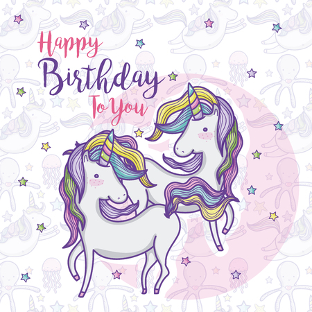 Happy birthday card for girls. Foto de archivo - 95889075