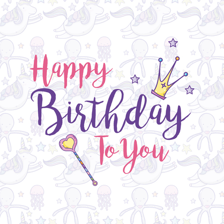 Happy Birthday Card For Girls Royalty Free Cliparts Vectors And